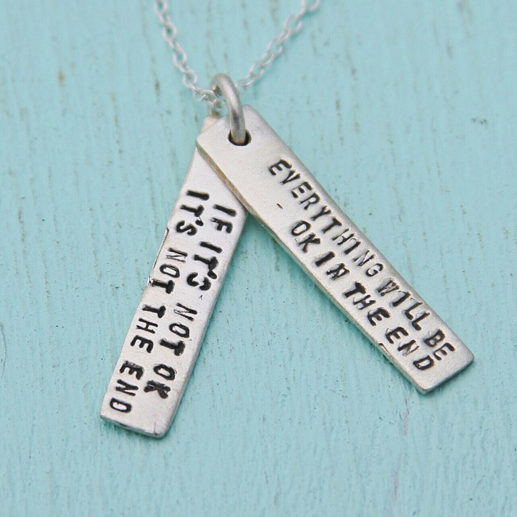 John Lennon Quote Necklace Blue Skies