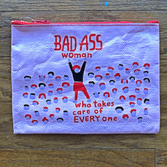 Bad Ass Woman cosmetic bag