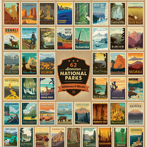National Parks poster puzzle