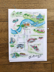 Chattanooga Map Card