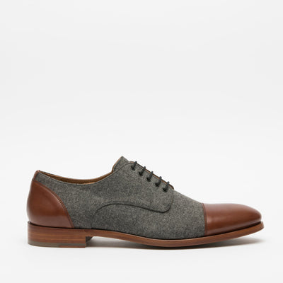 Jack Shoe Grey - Brown Side