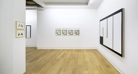 Julije Knifer, Mladen Stilinovic, Installation View, 2015, Michael Janssen Berlin