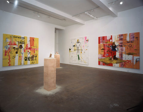 Thaddeus Strode, Installation view, 2002, The Happy Lion, Los Angeles