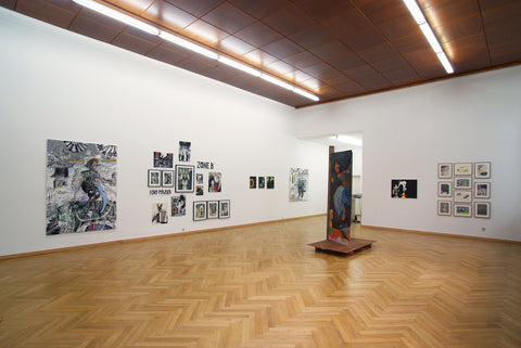 A Room with Heidenpeter, Dickreiter, Lotz, Maiwald, Mascher, Okon and Parkina, Installation view, 2006, Galerie Michael Janssen, Cologne