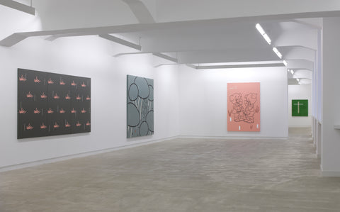 Gerard Hemsworth, Now Then, Installation view, 2009, Galerie Michael Janssen, Berlin