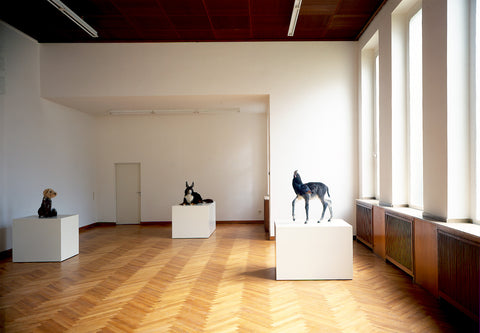Thomas Grünfeld, Installation view, 1996, Galerie Michael Janssen, Cologne