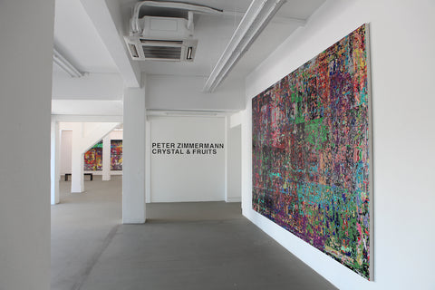 Peter Zimmermann - Crystal and Fruits, Installation view, 2013, Galerie Michael Janssen Singapore