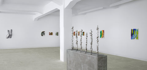 Lynda Benglis, Wax'in Wane, Installation view, 2010, Galerie Michael Janssen, Berlin