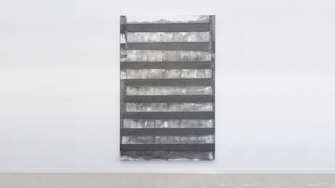 Stijn Ank, 11.2018, pigmented plaster metal structure, 280x180x4 cm
