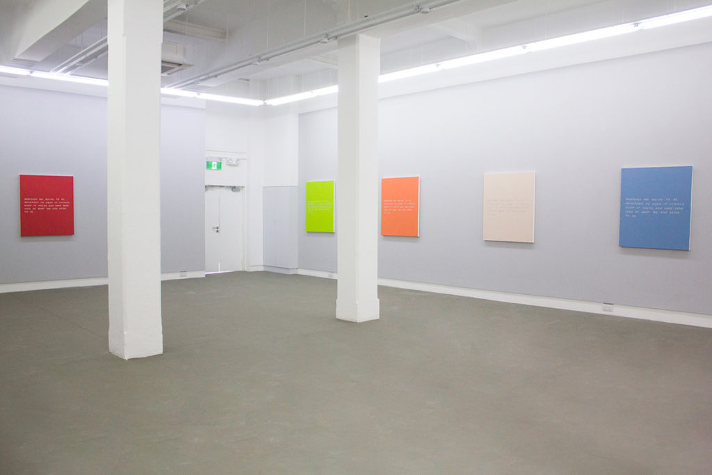 Meg Cranston & John Baldessari, Keep it Simple. Keep it Fresh., Installation view, 2013, Galerie Michael Janssen Singapore
