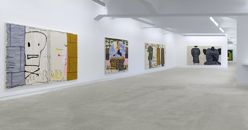 Rose Wylie, Picture on the wall..., Installation view, 2011, Galerie Michael Janssen Berlin