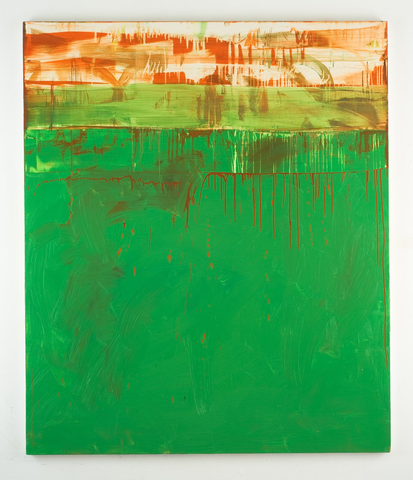 Shaan Syed, Untitled (Collapsed Monochrome Green), 2013
