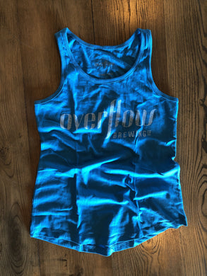Women's Flow Tank - Baby Blue Merchandise Overflow Brewing Company