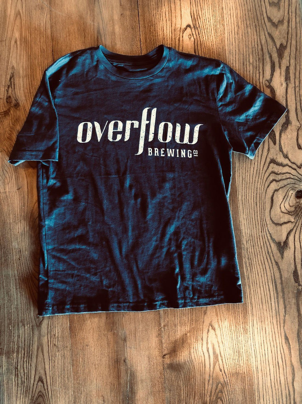 Kid's Short Sleeve Flow T - Navy Merchandise Overflow Brewing Company