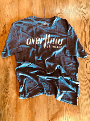 Men's Short Sleeve Flow T - Blue Merchandise Overflow Brewing Company