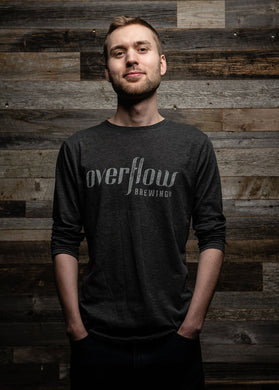 Men's Long Sleeve Flow T - Grey Merchandise Overflow Brewing Company