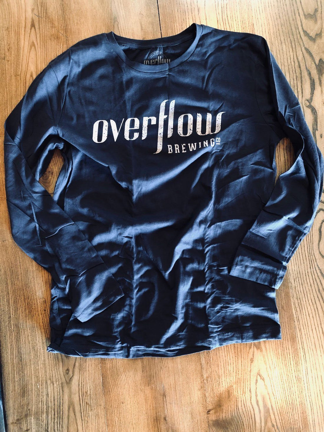 Men's Long Sleeve Flow T - Navy Merchandise Overflow Brewing Company