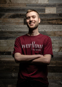 Men's Short Sleeve Flow T - Burgundy