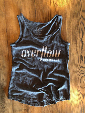 Women's Flow Tank - Grey Merchandise Overflow Brewing Company