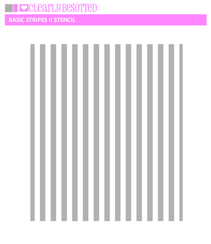 Basic Stripes II Stencil
