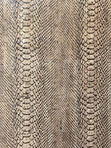 Black & Brown Alligator Cork Fabric