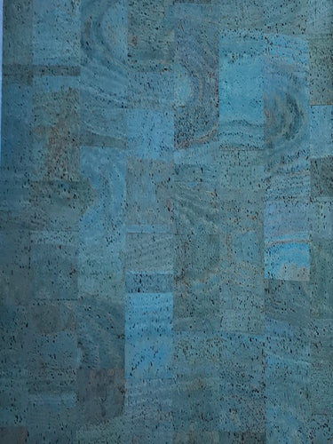 Cork Fabric - Blue
