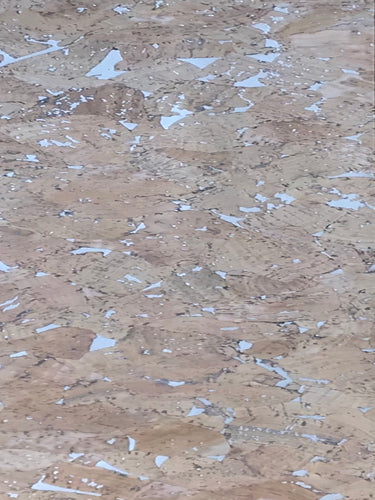 Cork Fabric - Cream Metallic Marble