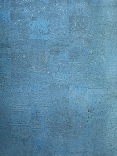 Cork Fabric - Pearly Blue