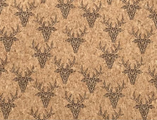 Load image into Gallery viewer, Cork Fabric - Antlers Cork