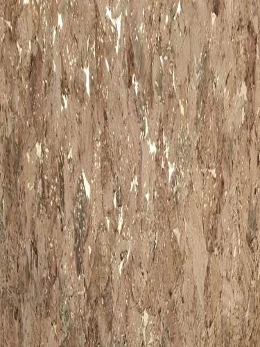 Cork Fabric - Natural Metallic Marble