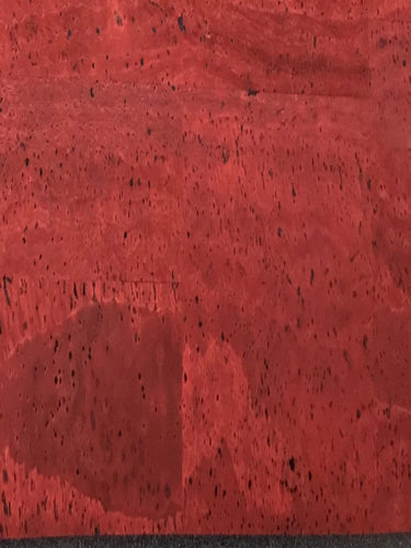 Cork Fabric - Barn Red