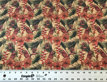 Load image into Gallery viewer, Cork Fabric - Parrots