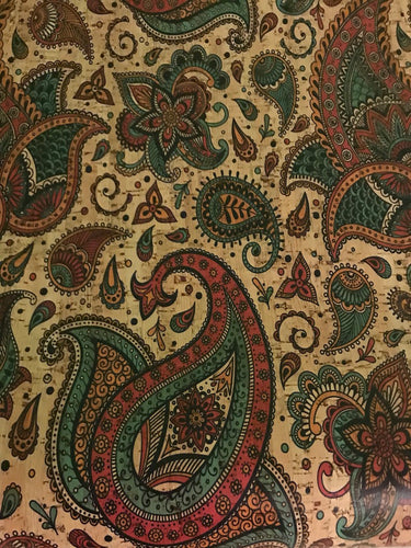 Cork Fabric - Jewel Tone Paisley