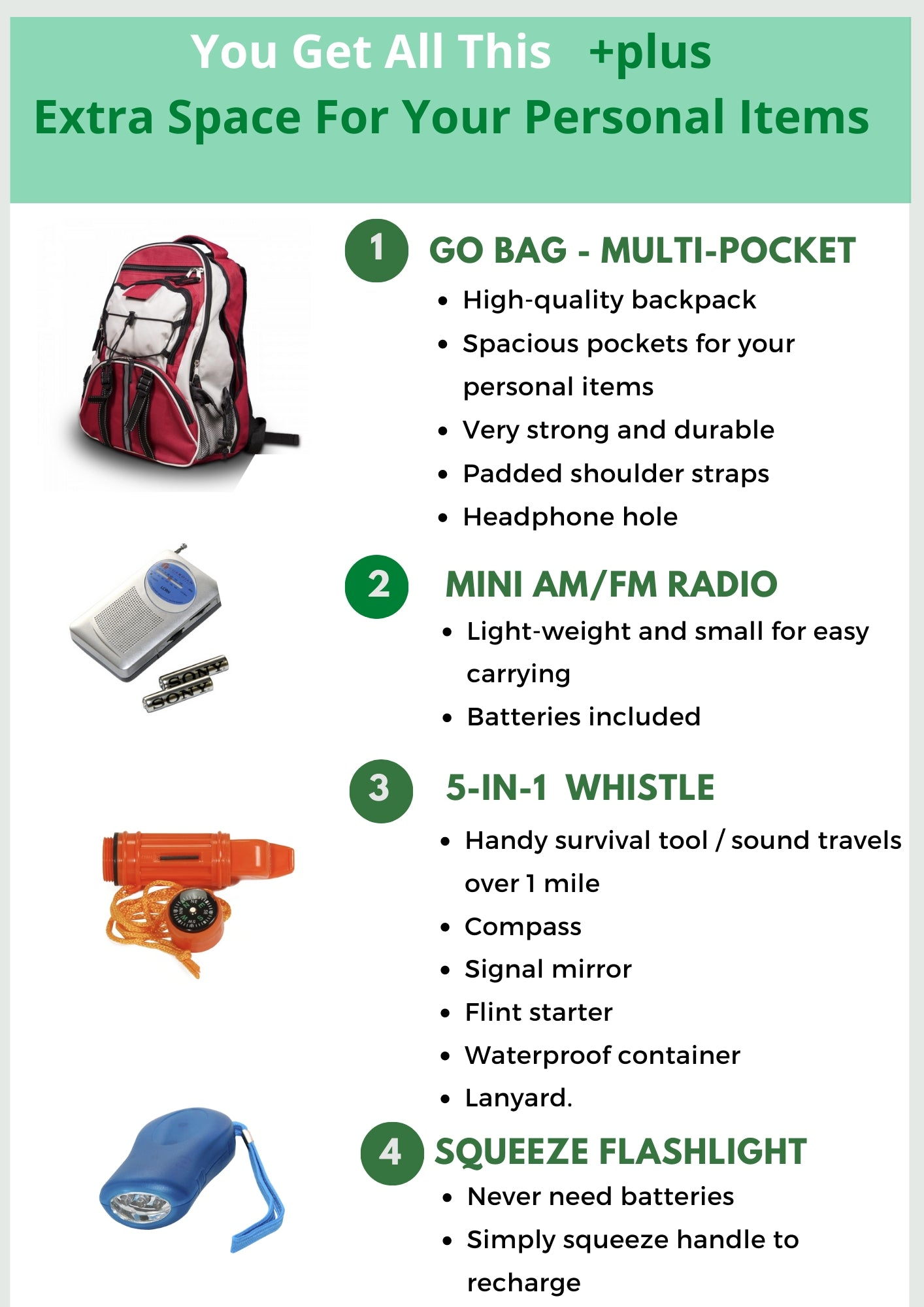 Go Bags JW Survival Kit - Be Ready Bags