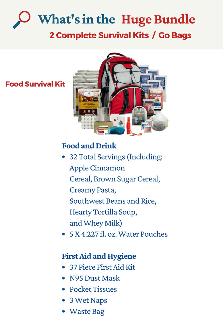 Go Bags For Sale - Food Survival Kit - Be Ready Bags