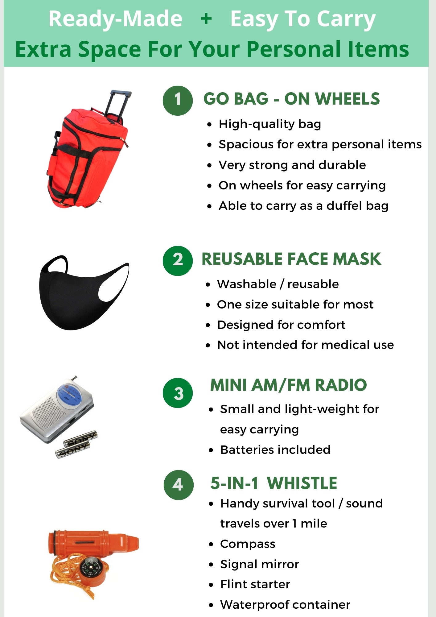 Go Bag On Wheels - Be Ready Bags