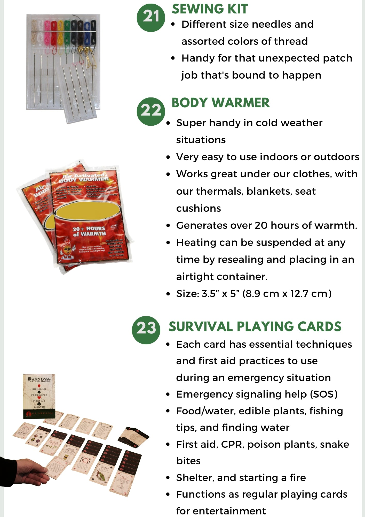Survival Kit Go Bag Items - Be Ready Bags