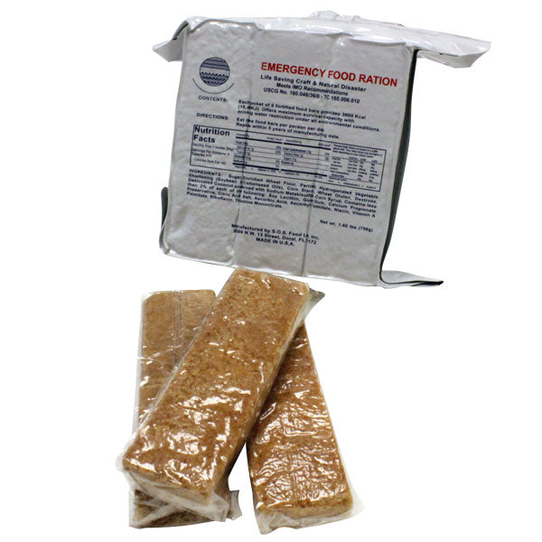 (18 Bars) Ration Food Bars : Non-Perishable