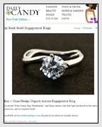 DailyCandy Features the Celine Sculptural Engagement ring designed by Dana Walden Chin and Radika Chin of DANA WALDEN Bridal