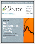 DailyCandy features the Ruger Trigger Necklace from the Subversive Gun Collection Designed by Dana Walden Chin and Radika Sallick Chin of Dana Walden Jewelry