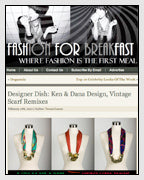 Fashion for Breakfast Features the Vintage Scarf Necklaces Designed by Dana Walden Chin and Radika Sallick Chin of Dana Walden Jewelry