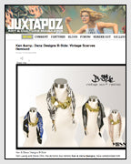 JUXTAPOZ Features Vintage Scarf Necklaces Designed by Dana Walden Chin and Radika Sallick Chin of Dana Walden Jewelry