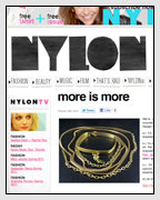 NYLON Features the Mania Wrap Bangle Bracelet in Recycled Brass Designed by Dana Walden Chin and Radika Sallick Chin of Dana Walden Jewelry
