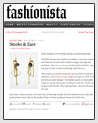 Fashionista Features Geometric Earrings from the Weekly Freestyle Promtion Designed by Dana Walden Chin and Radika Sallick Chin of Dana Walden Jewelry