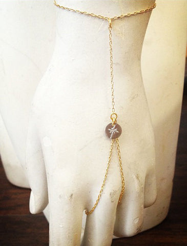 Brooklyn Rose Handchain - Recycled Metals - Eco-friendly - desgined by Dana Walden Chin and Radika Chin for Dana Walden Jewelry Shown Worn