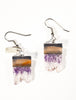 Callista Natural Amethyst Geode Slice Earrings