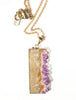 Calypso Natural Amethyst Color Slice Necklace