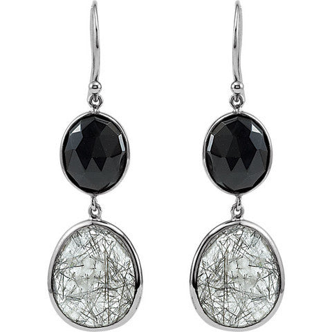 Joyce Recycled Silver Tourmalinated Quartz Earrings