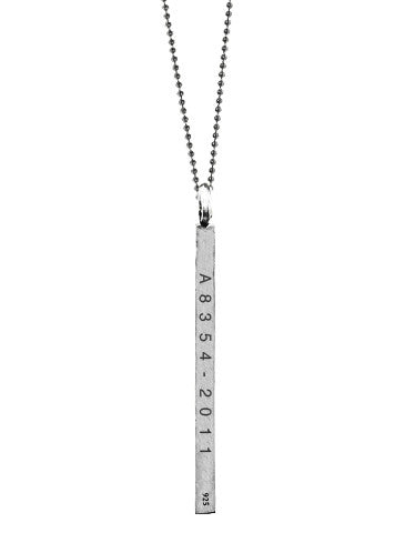 Marriage Equality 2 Gay Rights Silver Necklace from Dana Walden Jewelry
