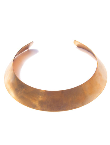 Paige Minimal Collar - Golden Tone from Eco-Friendly Recycled Brass - designed by Dana Walden Chin and Radika Chin for Dana Walden Jewelry